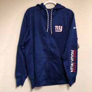 Men's Nike NFL Therma-Fit NY Giants Hooded Jacket